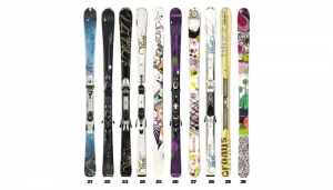 The Fleischer Sports Wall of Skis – A.K.A. – The Trophy Room – Women's