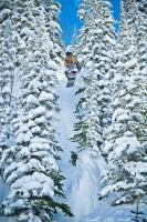 Snowboard Tree Air